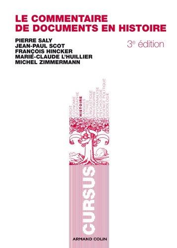 Le commentaire de documents en histoire (Cursus) par Michel Zimmermann