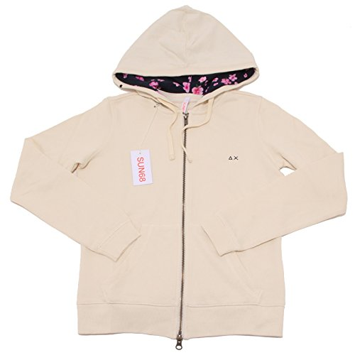 7625P felpa garzata panna SUN68 donna sweatshirt woman [S]