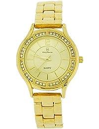 Philip Mercier WA139872 - Reloj para mujeres, correa de metal color dorado