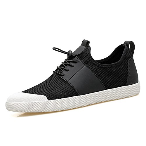 Men's Air Mesh Breathable Lightweight Trainer Shoes Black