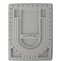Bandeja de Cuentas Abalorios Organizador Diseño de Joyas Artesanal Plástico Gris