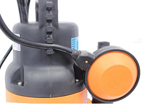 Baumarktplus-Schmutzwassertauchpumpe-400W-7500lh-mit-10-Metern-Anschlusskabel-Schmutzwasserpumpe-Tauchpumpe-Brunnenpumpe-Pumpe-mit-Schwimmer-Abwasserpumpe-Gartenpumpe-Teich