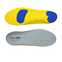 LEAGY Full-Length Memory Foam Gel Insoles Provide Cushioned Arch Support And Excellent Shock Absorption With Gel Pads Under The Heel and Forefoot