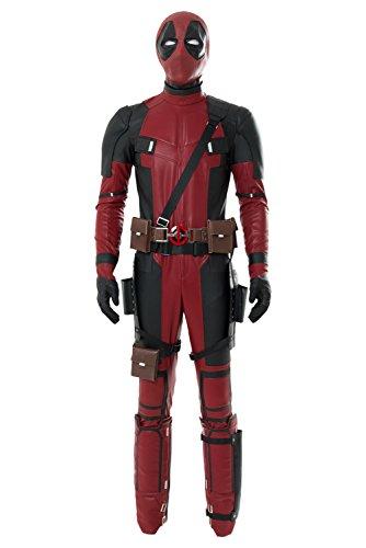 Deadpool Ganzköper Lycra Spandex Zentai-Anzug-Strampler Halloween Cosplay Kostüm Rot M (Komplette Kostüm Deadpool)