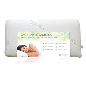 luxamel kopfkissen nackenkissen gratis aloe vera kissenbezug kissen viskosekissen f r. Black Bedroom Furniture Sets. Home Design Ideas