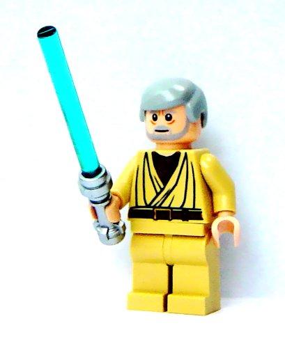 Lego Star Wars Mini Figure - Obi Wan Kenobi w/ Blanco Pupils & Lightsaber (A N...