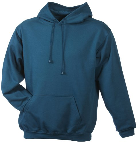 James & Nicholson Sweatshirt Hooded Sweat-Felpa Uomo-Donna Verde (petrol)