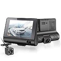 """KKMOON 4"""" 1080P Three Lens Car DVR Dash Cam Camera Camcorder"""