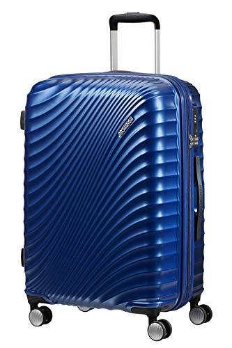 American Tourister Jetglam - Spinner Medium Expandable Valigia, 67 cm, 77.5 liters, Blu (Metallic Blue)