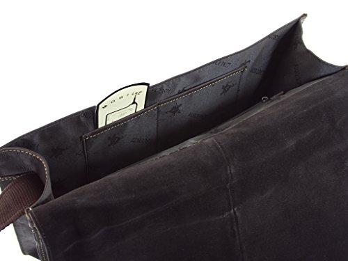 """Visconti invecchiato oliato, da 14 """", per PC portatili, in pelle, con tracolla, 18548) Marrone olio Marrone olio"""