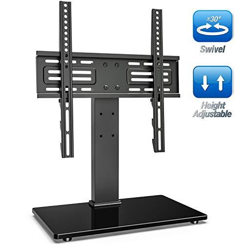 FITUEYES Soporte TV de 27 a 55 Pulgadas hasta 40 kg Giratorio 60 Grados Altura Ajustable...