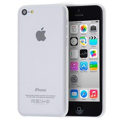 doupi UltraSlim Case für Apple iPhone 5C FeinMatt FederLeicht Hülle Bumper Cover Schutz Tasche Schale, weiß