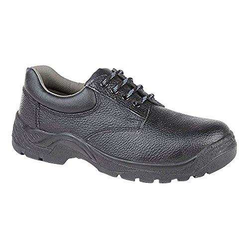 Grafters Herren gepolsterter Kragen 4 Ösen Safety Schuhe (50 EU) (Schwarz) -