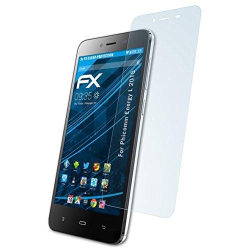 atFolix Schutzfolie kompatibel mit Phicomm Energy L 2015 Folie, ultraklare FX Bildschirmschutzfolie (3X)
