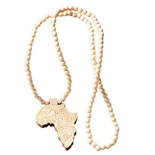 Bontand Afrika Halskette Gold Farbe Anhänger & Kette Afrikanische Karte Geschenk für Männer/Frauen Ethiopian Schmuck Trendy Schmuck Accessoires (Gold Afrika-karte Anhänger)