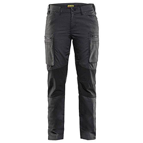 Knie-pocket Canvas Hose (Blakläder 715918459899C36Größe C36Frauen Service Hose–Dark Grün/Schwarz)