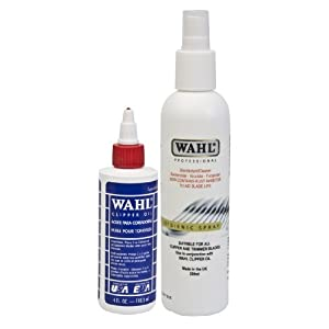 Wahl Clipper Oil and Hygiene Spray Maintenance Set for ZX126-800 Hair Clippers