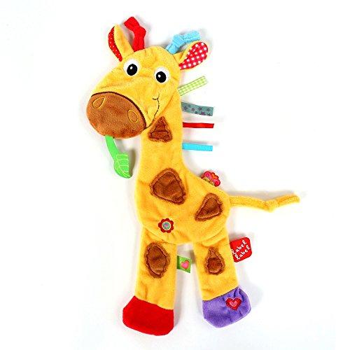 Vital Innovations LL-FR14044 Label-Label Schmusetuch Giraffe, gelb