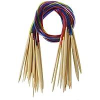 18 Paar Rundstricknadeln aus Bambus   Häkelnadeln Stricknadeln mit buntem Schlauch   2 mm-10 mm Größe Stricken Nadeln Einzelspitzen   Beyond Dreams