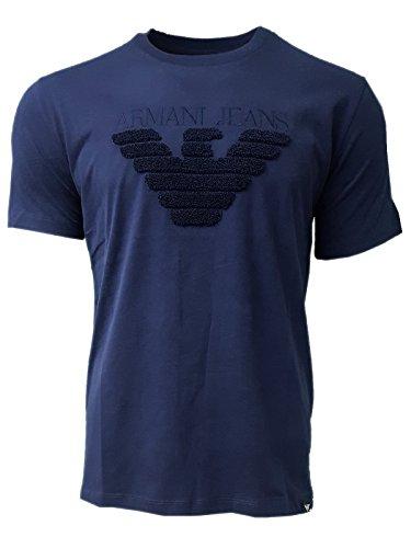 Armani Jeans - Men's Crew Neck Towel Chest Logo T Shirt. Short Sleeve. Regular Fit