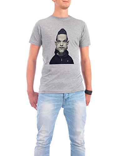"""Design T-Shirt Männer Continental Cotton """"Rami Malek"""" - stylisches Shirt Film von Rob Snow Grau"""