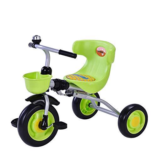 Dreirad Kinder Ab 2 Jahre, Kinderdreirad Klappbar Fahrrad Rad Flüsterleise Gummireifen Belastbarkeit bis 30 kg, Green