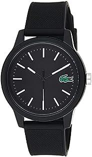 Lacoste Men's Black Dial Color Silicone Strap Watch - 201
