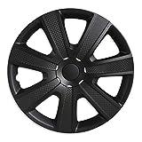 Carbon Black - 4 enjoliveurs 15 inch - Noir