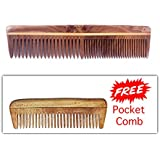 Majik Handemade Neem Wood Comb Anti-Dandruff Comb For Men And Women Brown 10 grams Pack Of 1