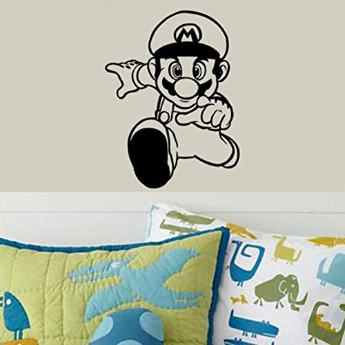 zxddzl Super Mario Videospiel Aufkleber Spielen Spielzimmer Aufkleber Gaming Poster Gamer Vinyl Wandtattoos Parede Decor Wandbild Videospiel Aufkleber-78x60cm