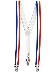 Bretelles de haute qualité avec 3 Clips fort de 35mm dans - FRANCE / Angleterre / Hollande / Espagne / Allemagne / Suisse Design - Football Clips - Fabriqué en Allemagne