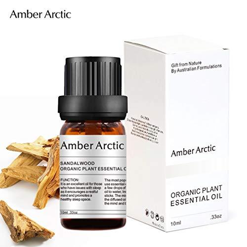 Olio essenziale di sandalo - 100% puro miglior olio essenziale di grado terapeutico, olio di aromaterapia naturale per diffusore (10ML)