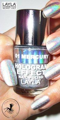 Smalto per unghie Layla ologramma Effect - N ° 1 Mercury thwilight + 1 lima hologram offerta