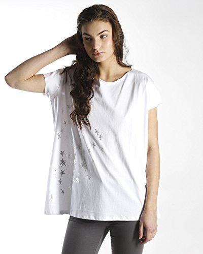 SilvianHeach Donna T-shirt Over Belzrame Maglietta Top Manica Corta Bianco S