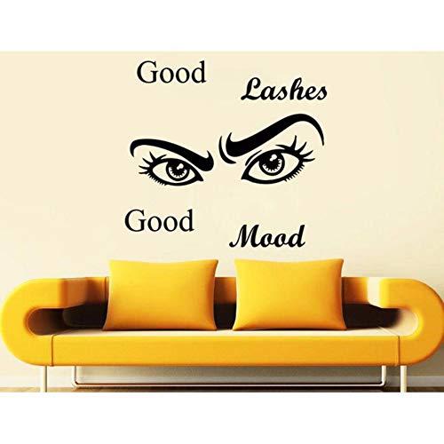 Pbldb Wimpern Auge Wandtattoo Zitate Gute Wimpern Gute Stimmung Mädchen Augen Augenbrauen Vinyl Aufkleber Schönheitssalon Dekoration Make Up Deco45X42 Cm
