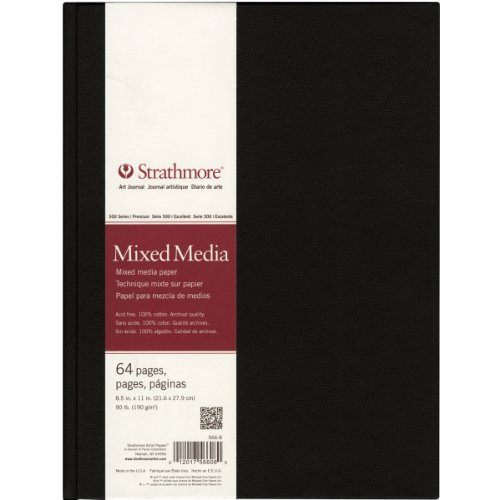 Strathmore Mixed Media Art Journal 21,6 x 27,9 cm, 64 Seiten (32 Blatt)