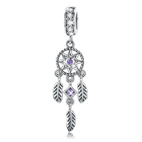 Dream Catcher Halter Familie der Baum Charms Beads Anhängern für Frauen Teen Mädchen Schlange Armband Halskette Geschenk (Stil 2) ()