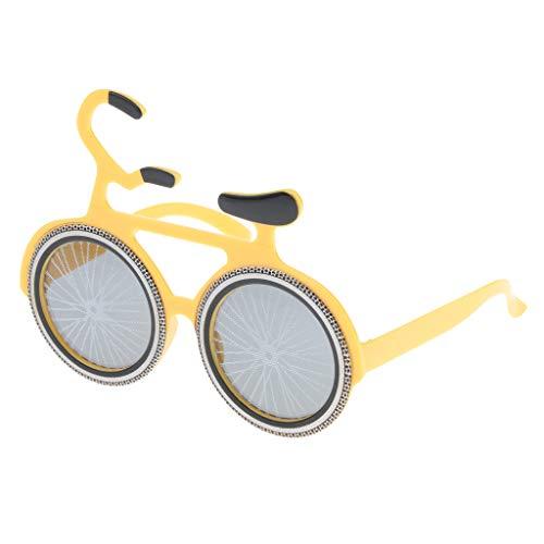 Baoblaze Fahrrad-Design Brille lustige Partybrille Spaßbrille Funbrille Halloween Kostüm Party Zubehör für Herren Damen