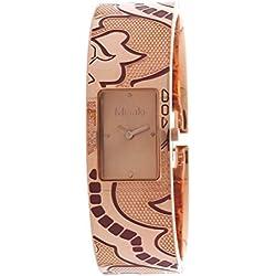Misaki ELISA CRWELISALARGE - Reloj analógico de cuarzo para mujer, correa de acero inoxidable chapado color rosa
