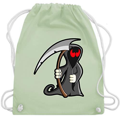 Halloween - Sensenmann - Unisize - Pastell Grün - WM110 - Turnbeutel & Gym Bag (Kostüm-ideen Halloween Für Dead)