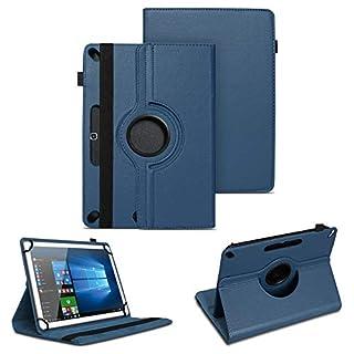 NAUC Tablet Tasche für Blaupunkt Atlantis A10.303 Schutzhülle Universal Kunst-Leder Hülle Standfunktion 360 Drehbar Cover Case, Farben:Blau