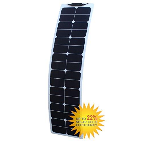 50W Photonic Universe flexibel schmal ETFE Solar Panel aus Back-Contact Zellen, für ein Wohnmobil, Wohnwagen, Wohnmobil, RV, LKW, Trailer, oder für ein Boot/Yacht, oder ein Solar Power System (Trailer Solar Power)
