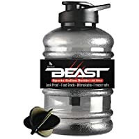 DOVEAZ Beast Sports Water Bottles for Office use/Protein Shaker Bottle/Gallon Water Bottle (1.5 LTR) with Mixer Ball and…