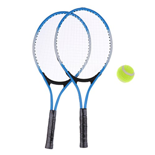 Erwachsene Tennisschläger Set - 2X Tennisschläger, 1x Schlägerhülle und Tennisball - - Tennisschläger Set Erwachsene
