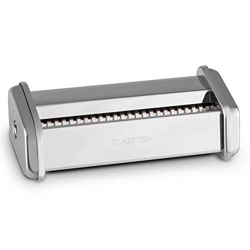 Klarstein Siena Zubehörteil Zubehör-Aufsatz für Klarstein Siena Pasta Nudel Maker Nudelmaschine (Edelstahl, 3mm Nudel-u. Pasta-Aufsatz) silber (Elektrische Pasta-maker,)