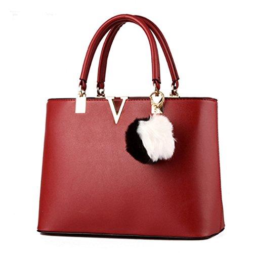 Sacchetto trasversale della traversa della borsa del cuoio del faux delle signore calde delle donne Vino rosso