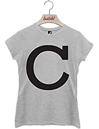 Batch1 Alphabet Large Letter Fashion Slogan Womens T-Shirt Personalised Letter C