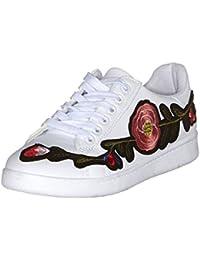 Baskets Fleurs Blanc tendance