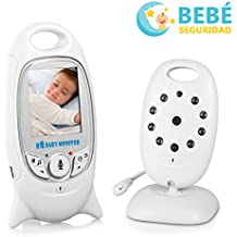 """Monitor Bebé Vigilabebés Cámara Inalámbrico Digital MiuVei Pantalla LCD de 2.0"""", Visión Nocturna, Intercomunicador Bidireccional, Monitor de Temperatura, 8 Canciones de cuna para Bebé Seguridad"""