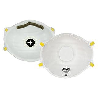 ACE 10x Staubschutzmasken FFP1 mit Ventil gegen Partikel, Rauch, Aerosole und Staub EN149 - Staubmaske Atemschutzmaske Atemschutz